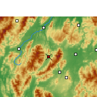 Nearby Forecast Locations - Guanyang - Map