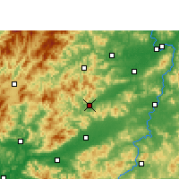 Nearby Forecast Locations - Dayu - Map
