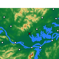 Nearby Forecast Locations - Huangmei - Map
