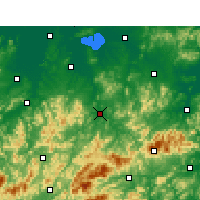 Nearby Forecast Locations - Ningguo - Map