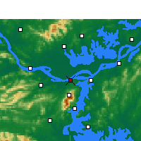 Nearby Forecast Locations - Jiujiang - Map