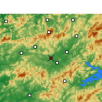 Nearby Forecast Locations - Xiuning - Map