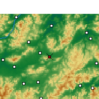 Nearby Forecast Locations - Dongyang - Map