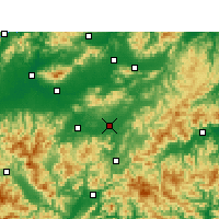 Nearby Forecast Locations - Yongkang - Map
