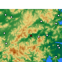 Nearby Forecast Locations - Xianju - Map