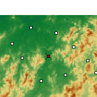 Nearby Forecast Locations - Nancheng - Map