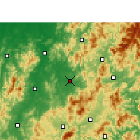 Nearby Forecast Locations - Lichuan - Map