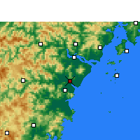 Nearby Forecast Locations - Rui'an - Map