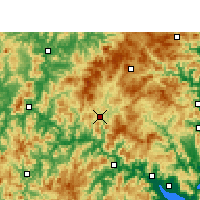 Nearby Forecast Locations - Gutian - Map