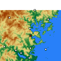 Nearby Forecast Locations - Luoyuan - Map