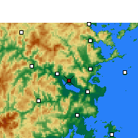 Nearby Forecast Locations - Fuzhou - Map