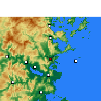 Nearby Forecast Locations - Lianjiang - Map