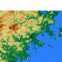 Nearby Forecast Locations - Putian - Map