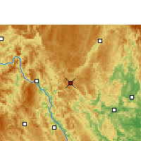 Nearby Forecast Locations - Nandan - Map