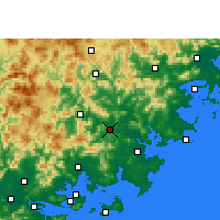 Nearby Forecast Locations - Nan'an - Map