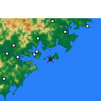 Nearby Forecast Locations - Jinshan/FUJ - Map