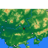 Nearby Forecast Locations - Huizhou - Map