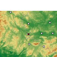 Nearby Forecast Locations - Pingxiang - Map