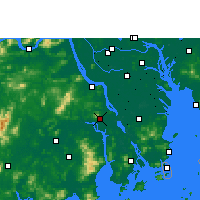 Nearby Forecast Locations - Xinhui - Map