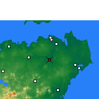 Nearby Forecast Locations - Dingan - Map