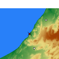Nearby Forecast Locations - Sidi Ifni - Map