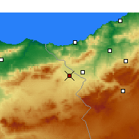 Nearby Forecast Locations - Oujda - Map