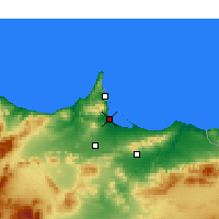 Nearby Forecast Locations - Al Aaroui - Map