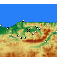 Nearby Forecast Locations - Tizi Ouzou - Map