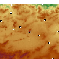Nearby Forecast Locations - Oum El Bouaghi - Map
