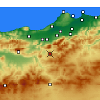 Nearby Forecast Locations - Médéa - Map