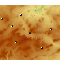 Nearby Forecast Locations - Tébessa - Map