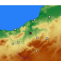 Nearby Forecast Locations - Tlemcen - Map