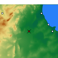 Nearby Forecast Locations - Kairouan - Map