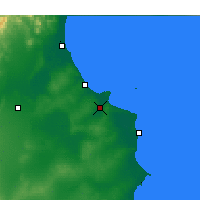 Nearby Forecast Locations - Monastir - Map