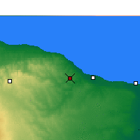 Nearby Forecast Locations - El Khoms - Map