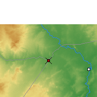 Nearby Forecast Locations - Mandera - Map