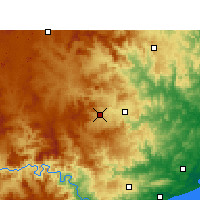Nearby Forecast Locations - Babanango - Map