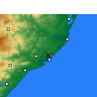 Nearby Forecast Locations - Richards Bay - Map