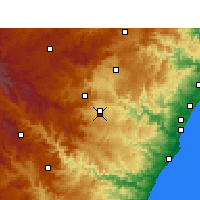 Nearby Forecast Locations - Pietermaritzburg - Map