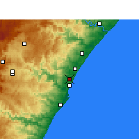 Nearby Forecast Locations - Mount Edgecombe - Map