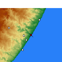 Nearby Forecast Locations - Port Shepstone - Map