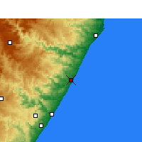 Nearby Forecast Locations - Sezela - Map