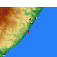 Nearby Forecast Locations - Port Edward - Map