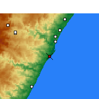Nearby Forecast Locations - Durban - Map