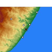 Nearby Forecast Locations - Margate - Map