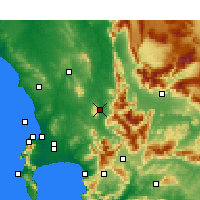 Nearby Forecast Locations - Paarl - Map