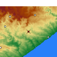 Nearby Forecast Locations - Bhisho - Map