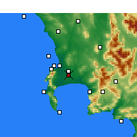 Nearby Forecast Locations - Cape Town - Map