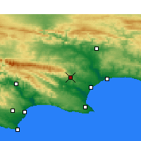 Nearby Forecast Locations - Uitenhage - Map