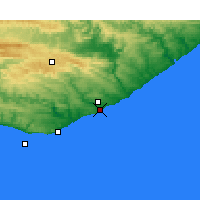 Nearby Forecast Locations - Port Alfred - Map
